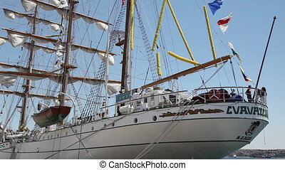 old navy sail ship - the mexican navy and sail training ship...