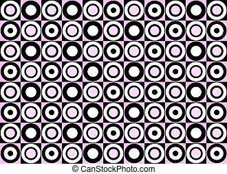Pink circle pattern. Vector