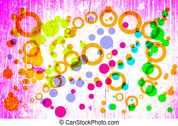 grunge circles on the grunge background