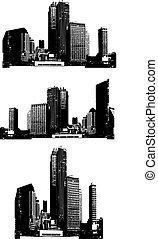Skyscrapers. Vector
