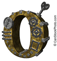 steampunk letter o