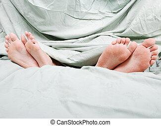 separação, cama, antes de, Divórcio