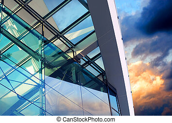 Business buildings architecture on  sky background