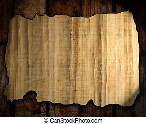 old paper texture on a wood background