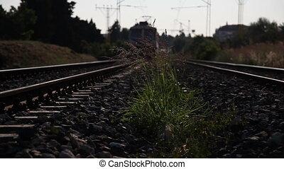 passenger train passing