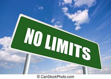 No limits - Illustrated no limits sign