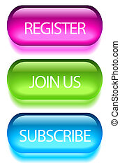 Registration buttons set