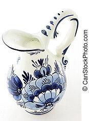 Antique blue delft milk jar