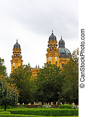 Theatine church, catholic church in Munich Germany, picture...