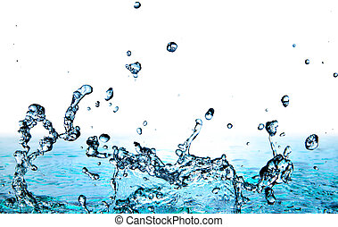 water - cool water on gradient background