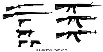 collection of weapon silhouettes