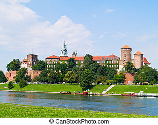 Wawel castle, Krakow, Poland - royal castle at Wawel hill,...