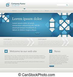 Blue website creative template