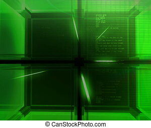 digital green Cube