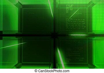 digital green Cube
