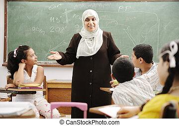 Education, activités, Classe, école, heureux,...