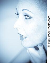 Blue woman - Beautiful woman