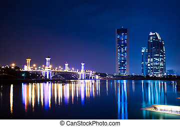Putrajaya, Malaysia Cityscape - Modern office building and a...