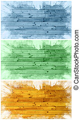 Set of grunge textures on the abstract background