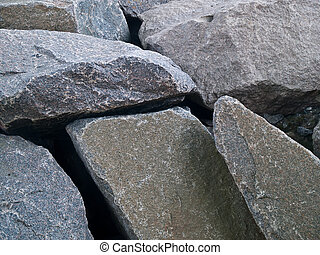 Granite Rocks - Pile of Granite Rocks in close detailed view