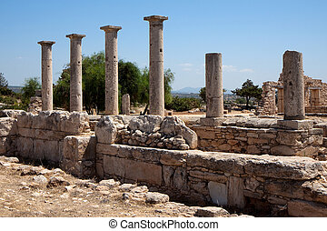 Temple of Apollo near Kourion Cyprus Europe