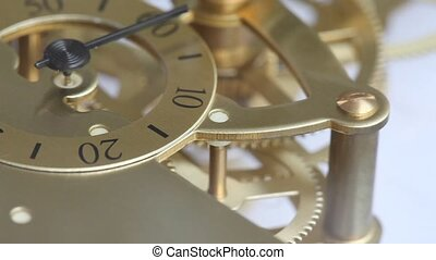 watch - Complex movement of a modern wind-up watch