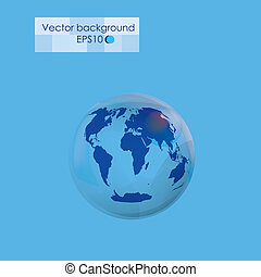 Planet earth on the blue background