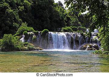 Waterfalls Krka - Waterfalls cascade at Krka National park...