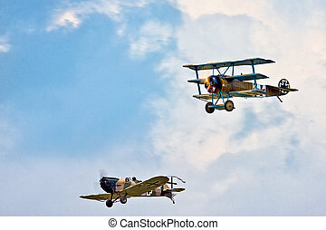 Fokker Triplane and Junkers CL1