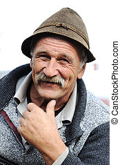 Very Nice Image of a Happy Old man Smiling