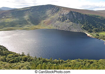 deep lake in wicklow ireland
