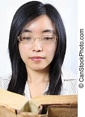 Young Chinese female student
