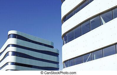 Building Exterior - modern Building Exterior on a blue sky