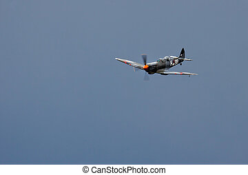 Supermarine Spitfire T9C aerial display at Biggin Hill...