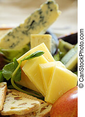 Cheddar Cheese - Sliced cheddar cheese with a variety of...