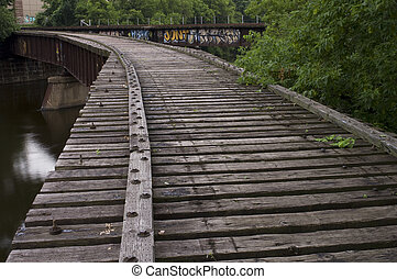 Converging Railroad Tracks - Old abandoned railroad bridges...