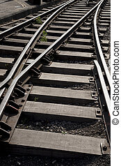 Close up of Railroad Track Curve