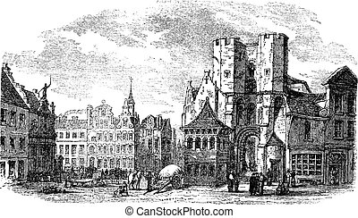 The holy place of Saint Pharailde and the old castle of...