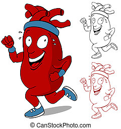 Healthy Heart Runner - An image of a healthy heart running...