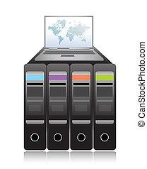Network Server illustration design