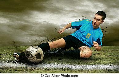 futebol, jogadores, campo