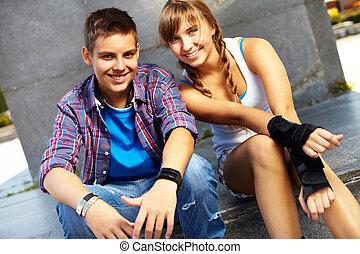 Youthful couple