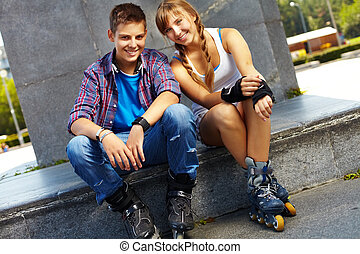 Youthful skaters