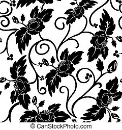 Black and white seamless background - White seamless...