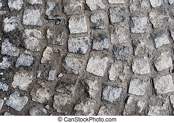 stone ground - background of old stones