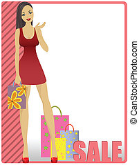 Girl in striped card - beautiful girl in striped card...