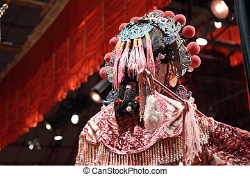chinese dummy opera, looking after the stage