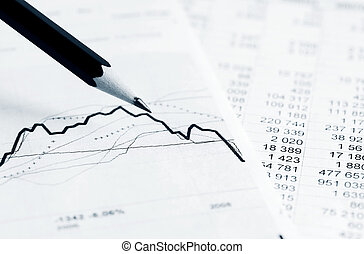 Stock market graphs and charts - Analysis of stock market...