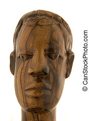 Statuette - full face - African ebony statuette - full face