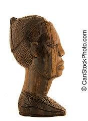 Statuette - profile - African ebony statuette - profile